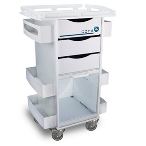 "Core DX Storage Cart with Security-Railed Top by TrippNT, 23"" x 36.5"" x 17.5"""