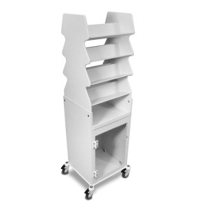 """Rolling Tilted Shelf Cart for Medical Offices, PVC, 19"""" x 57 x 17"""""""