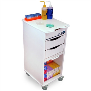 "Core SP Space-Saving Lab Cart by TrippNT, 19.5"" x 35"" x 14.5"""