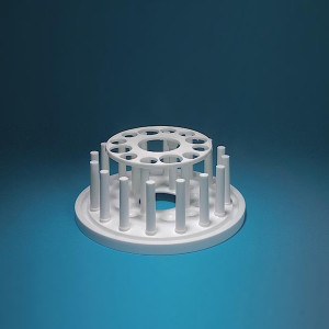 Test Tube Rack, Round/Circular, (4) 25mm holes (8) 19mm holes, plus drying pins