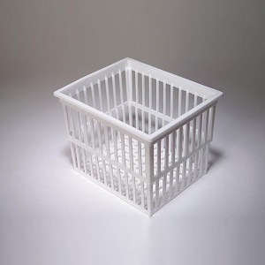 Test Tube Drain/ Rinse Baskets, PP, 140 x 120 x 110mm, case/6