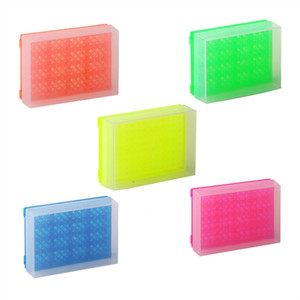 Microtube Rack, 96-Well with Cover, Fluorescent Colors, pack/5