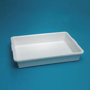 "Lab Tray, Autoclavable PP, 18 x 14 x 3"", case/10"