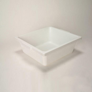 "Utility Tray, Autoclavable PP, 15"" x 14"" x 5"", case/6"