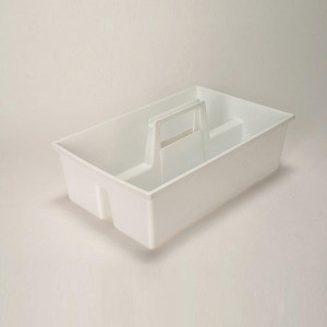 "Utility Tray, Autoclavable PP, 15"" x 9.5"" x 4.5"", case/6"