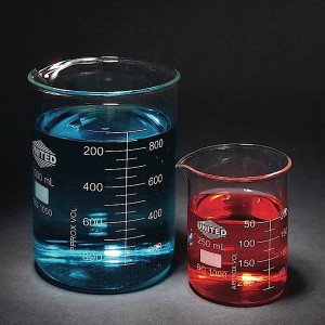 Low Form Beakers, Type I Borosilicate Glass, 30mL, case/12