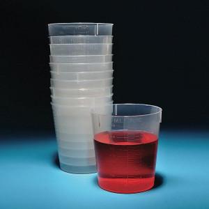 Stackable Beakers, PP, 125mL, case/1000