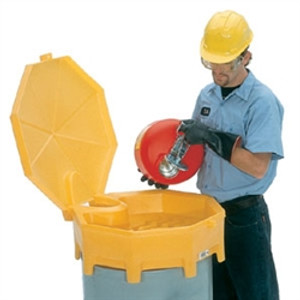 Global Drum Funnel, Hinged Cover, Spout for 30-55 gal drums,