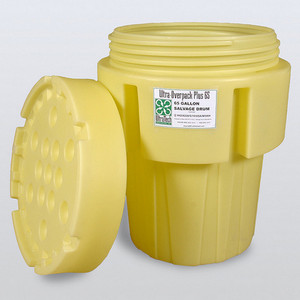 Overpack Plus Drum Containment, 65 gal, DOT Yellow, UN Rated