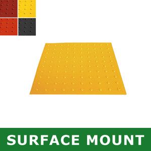Surface-Mount ADA Mat, Compliant Detectable Warning Tile, 2 x 2'