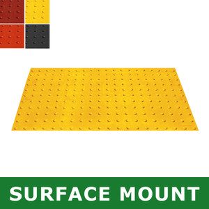 Surface-Mount Retrofit ADA Mat, Compliant Detectable Warning, 2 x 4'