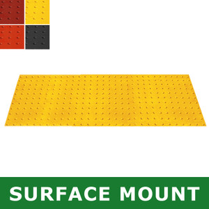 Surface-Mount Retrofit ADA Mat, Compliant Detectable Warning, 2 x 5'