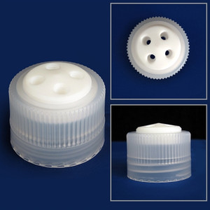 4-Port Cap/ Filling Cap for Nalgene® 38-430 Bottles, Complete Kit