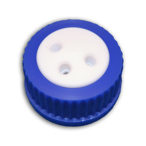 3-Port Cap for Glass Bottle, GL-45, Complete Kit