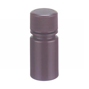 WHEATON® 15mL Leak Resistant Star Bottle, HDPE, Amber, 20-410 Cap, case/72