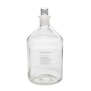 WHEATON® 2000mL Glass Reagent Bottles, Clear, Ground Stopper, case/6