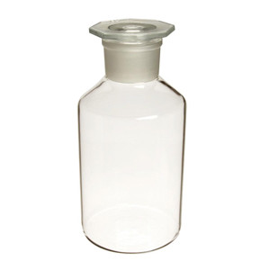 WHEATON® 5000mL Glass Reagent Bottle, Clear Glass, Ground Stopper