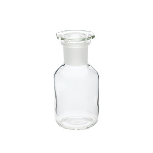 WHEATON® 250mL Glass Reagent Bottles, Wide Mouth Clear, Ground Stopper, case/10