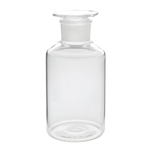 WHEATON® 500mL Glass Reagent Bottles, Wide Mouth Clear, Ground Stopper, case/10