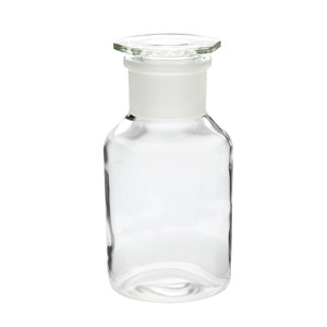 WHEATON® 1000mL Glass Reagent Bottles, Wide Mouth Clear, Ground Stopper, case/10