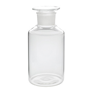 WHEATON® 2000mL Glass Reagent Bottles, Wide Mouth Clear, Ground Stopper, case/6