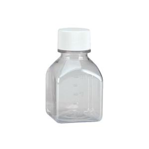 WHEATON® 125mL Square Media Bottles, Sterile PET, case/48