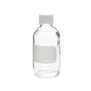 WHEATON® 250mL Reagent Bottles, Borosilicate Glass, Labeled, case/6