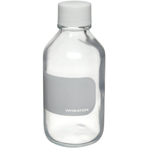 WHEATON® 250mL Safety Coated Reagent Bottles, Borosilicate Glass, case/6