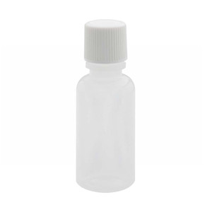 WHEATON® 15mL Boston Round Bottles, Natural LDPE, Poly Lined Screw Caps, case/144
