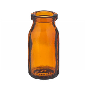 WHEATON® 5mL Amber Serum Bottles, Borosilicate Glass, Crimp Top, case/288