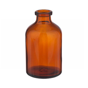 WHEATON® 50mL Amber Serum Bottles, Borosilicate Glass, Crimp Top, case/288
