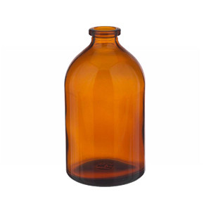 WHEATON® 100mL Amber Serum Bottle, Borosilicate Glass Amber, Crimp Top, case/144