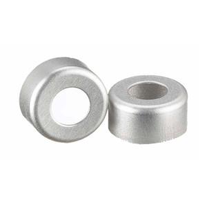 WHEATON® 11mm Crimp Seal Open Top Hole Caps, Aluminum, Unlined, case/1000