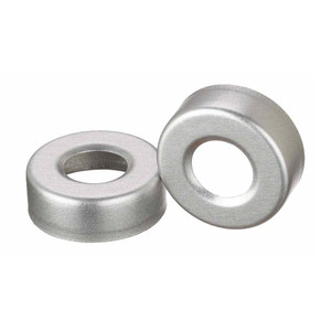 WHEATON® 20mm Crimp Seal Open Top Hole Caps, Aluminum, Unlined, case/1000