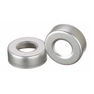 WHEATON(R) 20mm Crimp Seal Open Top Hole Caps, Aluminum, Unlined, case/1000