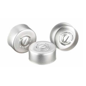 WHEATON(R) 13mm Crimp Seal, Center Tear-Out, Aluminum, Unlined, case/1000