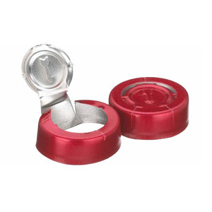 WHEATON® 20mm Crimp Seal, Tear Off, Aluminum Red, Unlined, case/1000