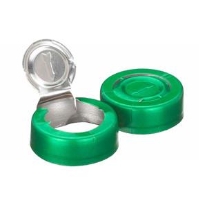 WHEATON® 20mm Crimp Seal, Tear-Off, Aluminum Green, Unlined, case/1000