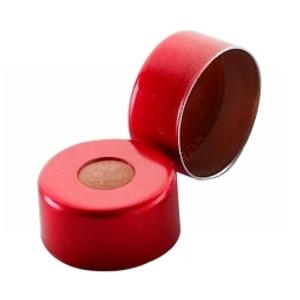 WHEATON® 11mm Crimp Seal, Aluminum Red, PTFE/Silicone, case/1000