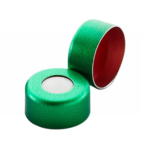 WHEATON® 11mm Crimp Seal, Aluminum Green PTFE/Silicone, case/1000