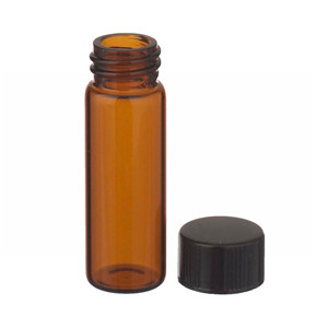 WHEATON® 4mL, Economy Vials, Glass Amber, 13-425 Caps, Rubber, case/200