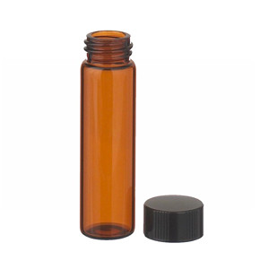 WHEATON® 8mL, Economy Vials, Glass Amber, 15-425 Caps, Rubber, case/200