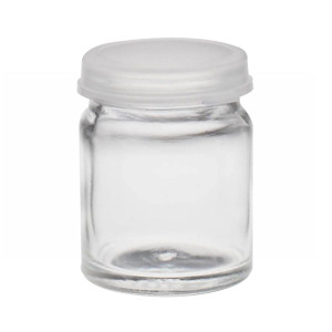 WHEATON® 16mL Glass Sample Bottles, Clear Snap Caps, case/144