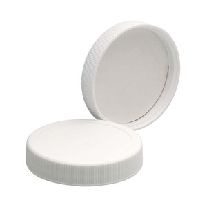 WHEATON® 58-400 PP Caps, White, Vinyl Liner, case/72