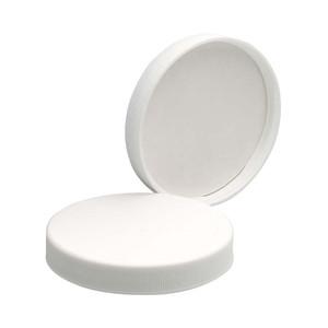 WHEATON® 70-400 PP Caps, White, Poly Vinyl Liner, case/48