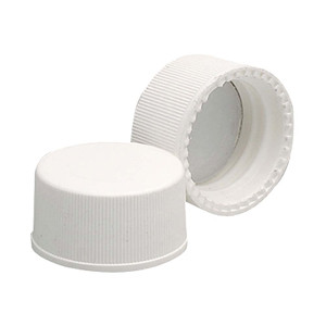 WHEATON® 15-425 PP Caps, White, PTFE Liner, case/144