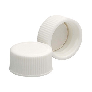 WHEATON® 18-400 PP Caps, White, PTFE Liner, case/144