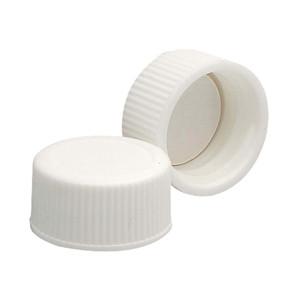 WHEATON® 18-400 PP Caps, White, PTFE Liner, case/144