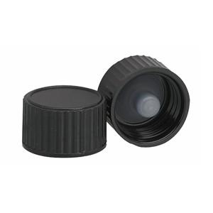 WHEATON® 15-425 Black Cap with Cone-Shaped Insert, case/144