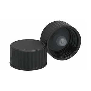 WHEATON® 18-400 Black Cone Lined Caps, case/144